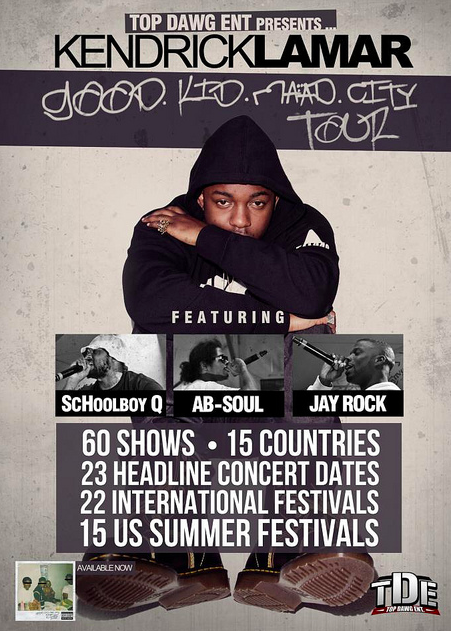 good kid madd city tour flyer