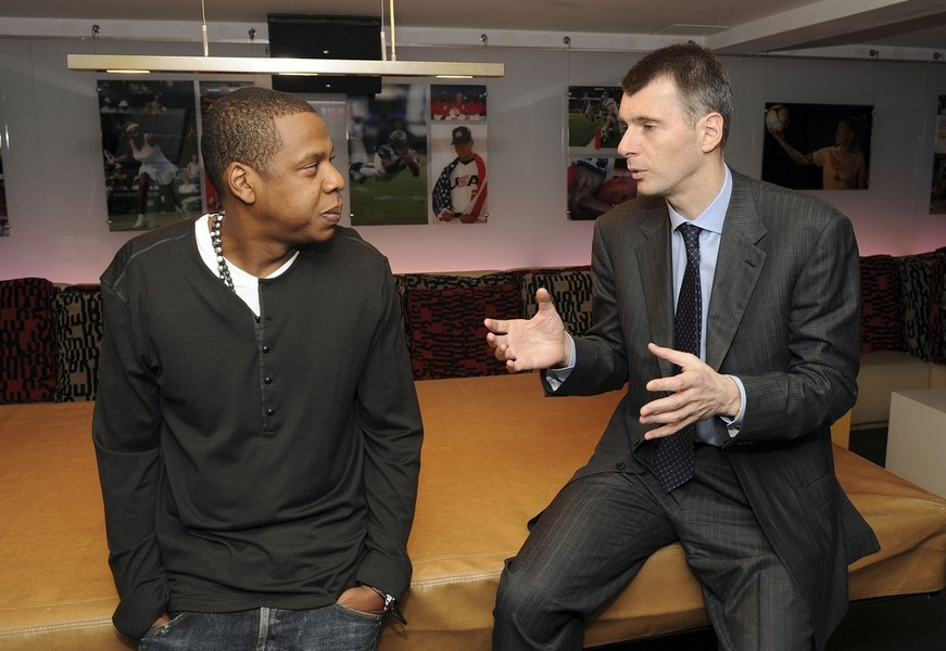New Jersey Nets Owner Mikhail Prokhorov Meets with Jay Z
