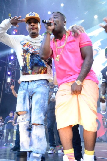 EAST RUTHERFORD, NJ - JUNE 01:  (L-R) T.I. and Troy Ave perform in concert during Hot 97 Summer Jam 2014 at MetLife Stadium on June 1, 2014 in East Rutherford City.  (Photo by Johnny Nunez/WireImage)