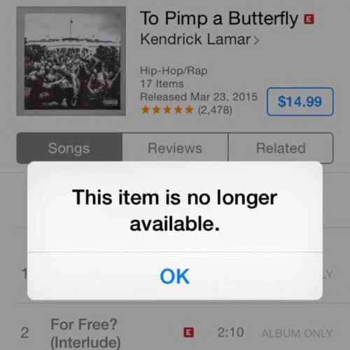 For sale kendrick download itunes