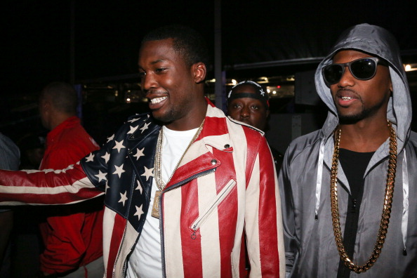 EAST RUTHERFORD, NJ - JUNE 01:  (L-R) Meek Mill and Fabolous attend Hot 97 Summer Jam 2014 at MetLife Stadium on June 1, 2014 in East Rutherford City.  (Photo by Johnny Nunez/WireImage)