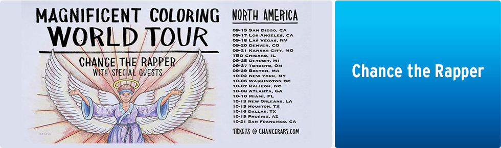 chance the rapper coloring book tour tickets Chance the Rapper Album Cover  Chance The Rapper Coloring Book Tour 2016