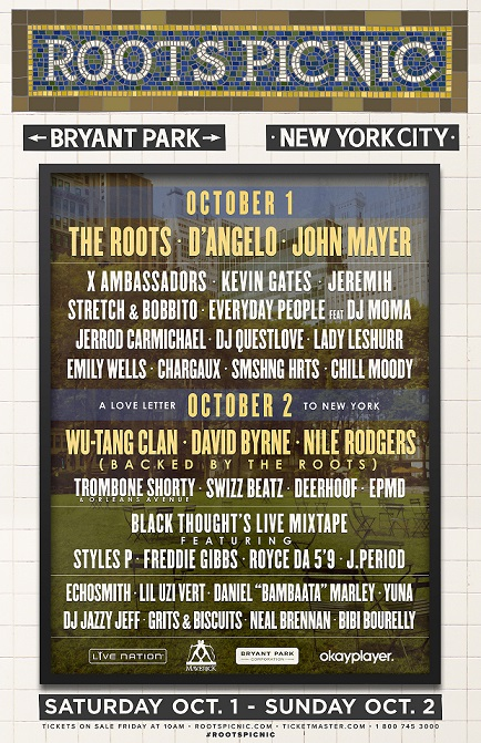 roots picnic flyer nyc