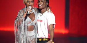 Mandatory Credit: Photo by Buckner/Variety/REX/Shutterstock (8879639bt) Mary J. Blige and A$AP Rocky BET Awards, Show, Los Angeles, USA - 25 Jun 2017