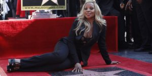 Mary J. Blige attends a ceremony where she received her star on the Hollywood Walk of Fame in Hollywood, California, U.S., January 11, 2018.