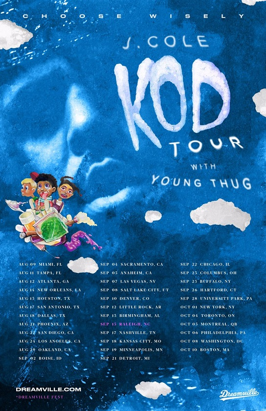 J.Cole 'K.O.D.' Tour Dates with Young Thug | Rap Radar