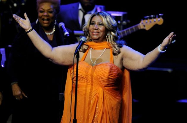 LOS ANGELES, CA - JULY 25:  Singer Aretha Franklin performs at the Nokia Theatre L.A. Live on July 25, 2012 in Los Angeles, California.  (Photo by Kevin Winter/Getty Images)