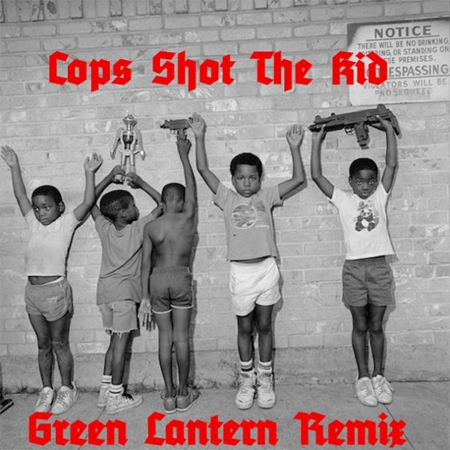 nas kanye green cops shot kid cover