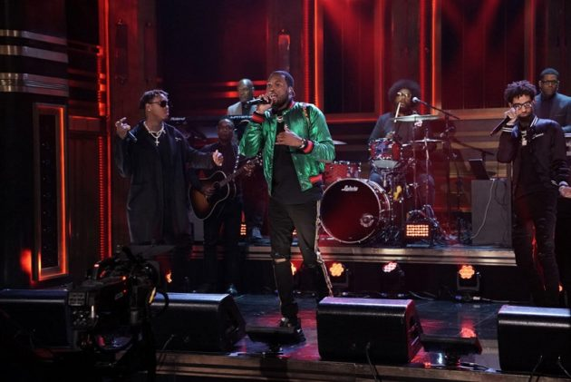 """THE TONIGHT SHOW STARRING JIMMY FALLON -- Episode 0917 -- Pictured: Musical Guest Meek Mill performs """"Dangerous"""" on September 4, 2018 -- (Photo by: Andrew Lipovsky/NBC/NBCU Photo Bank)"""
